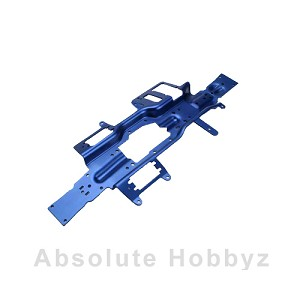 Traxxas revo Chassis 3mm T6061 Blue Anodized