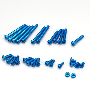 KO Propo Aluminum Screw Set for EX-RR / EX-2 / LDT / NEXT (Blue)