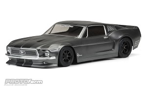 1968 ford mustang vintage trans-am racing body (clear)