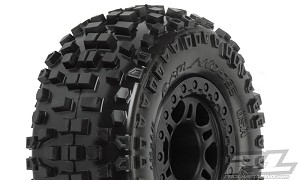 Pro-Line Badlands SC Tires w/Split Six Wheels (Black) (Slash Front) (M2 Medium) (2)
