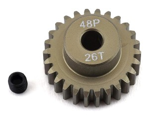 ProTek RC 48P Lightweight Hard Anodized Aluminum Pinion Gear (3.17mm Bore) (26T)