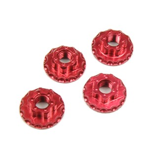 Sticky Kicks RC M4 Wheel Nuts (Red) 4pcs