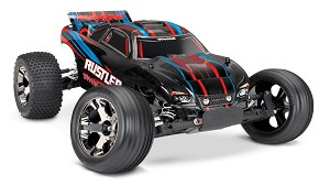 Traxxas Rustler VXL Brushless RC Stadium Truck w/TSM (RED)