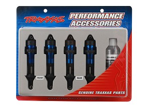 Traxxas Aluminum GTR Shock Set (Blue) (4)