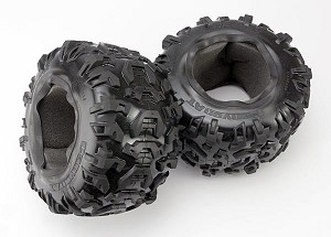 "Traxxas 3.8"" Canyon Tires w/Foam Inserts (2)"