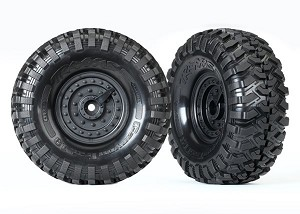 Traxxas Tactical Mounted Wheels / Tires (2)
