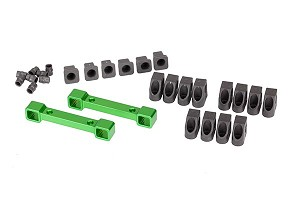 Traxxas Aluminum Suspension Arm Mounts (Front/back) (Green Anodized)