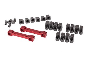 Traxxas Aluminum Suspension Arm Mounts (Front/back) (Red Anodized)