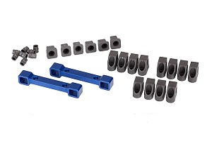 Traxxas Aluminum Suspension Arm Mounts (Front/back) (Blue Anodized)