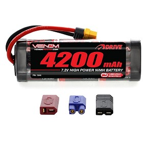 Venom 7.2V 4200mAh 6 Cell NiMH Battery with Universal Plug System