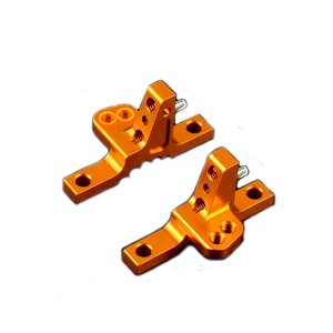 Xray T4'19 Aluminum Upper Clamp With 2 Adj. Roll-centers (l+r) - Orange
