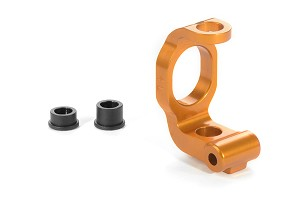 Xray Aluminum C-Hub Front Block left - Caster 4° - Orange